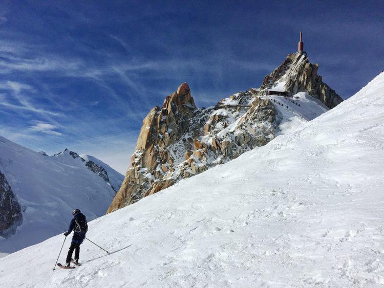 Vallée Blanche au départ de l'Aiguille du Midi, Chamonix, Virée Verticale