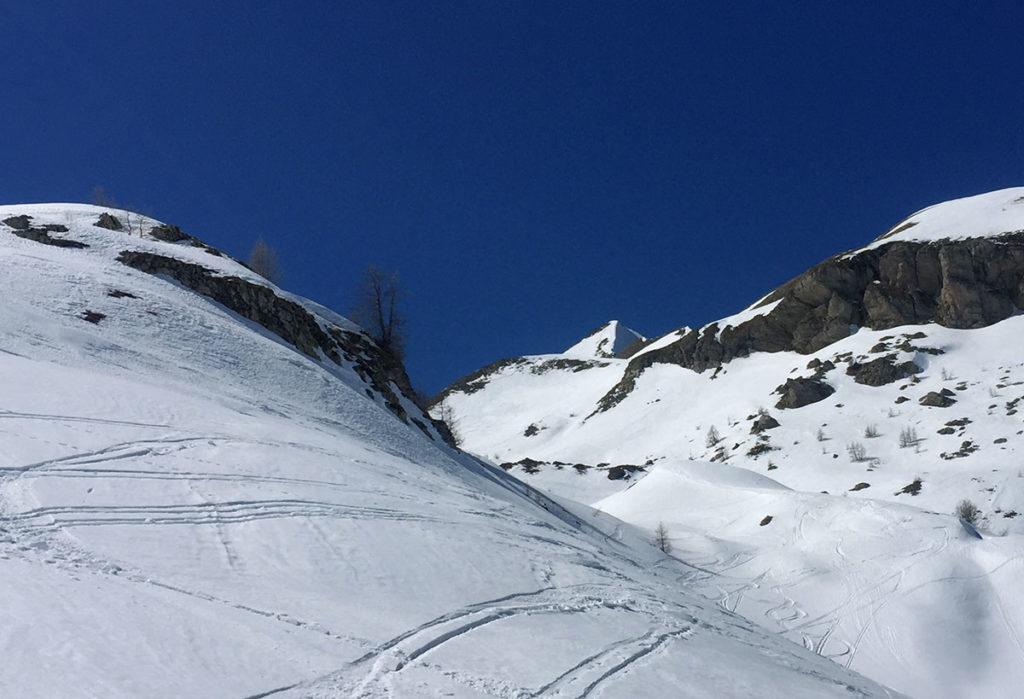 Le Piolit et sa face caractéristique, ski de randonnée dans le Champsaur, Virée Verticale